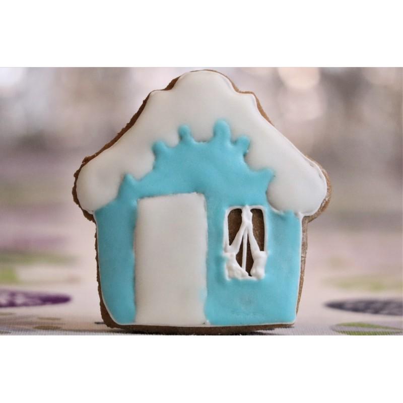 Niebieski piernikowy domek