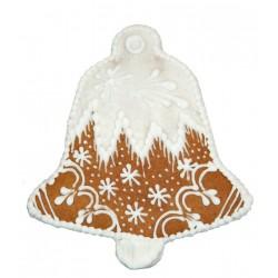 Dzwonek z piernika biały