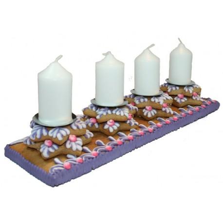 Adwentowy świecznik rzędowy 800g nr 506