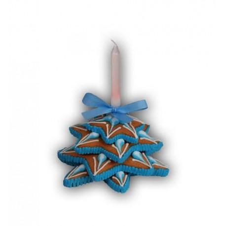 Świecznik z tortową świeczką mały 90g nr 500