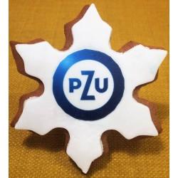 Pierniki reklamowe z logo śnieżynka PZU