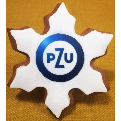 Pierniki reklamowe z logo gwaizdka PZU