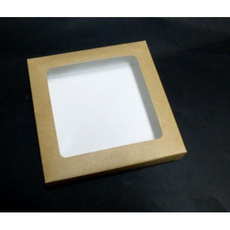 Kartonik na pierniki z przeźroczystą przykrywką 14,5 x 4 cm
