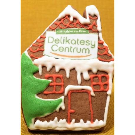 Domek z piernika z logo Delikatesy Centrum