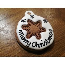 Bombka z piernika merry christmas