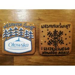 Pierniki na zamówienie - ciastka reklamowe z napisem